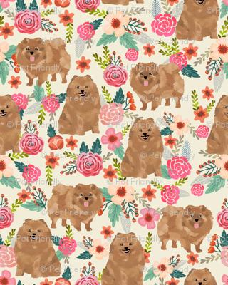 pomeranian cute pom dog cute pom pom dog design sweet pom dogs fabric florals pom fabric