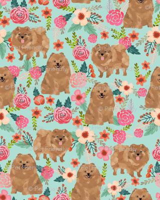 pomeranians cute pom dog fabric pom poms fabric sweet pom dog florals les fleurs fabric sweet pom dog fabric