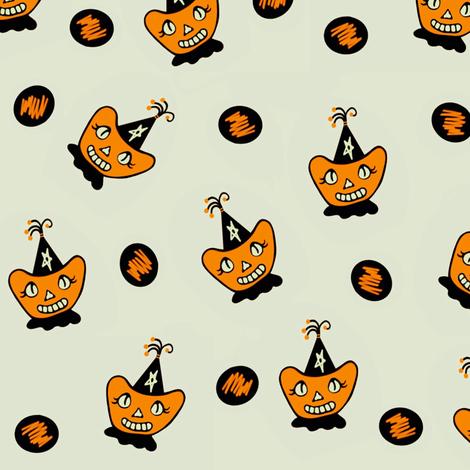 Little Miss Apple Cheeks Halloween fabric by sewindigo on Spoonflower - custom fabric