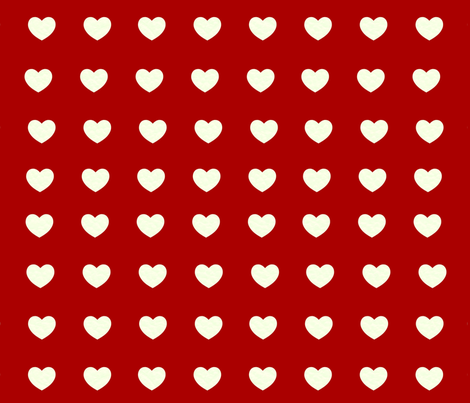 Heart punch fabric by lacartera on Spoonflower - custom fabric