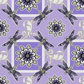 tk-dragonfly_Floral_Flower_Purple_Violet_Khaki_tan_4x4