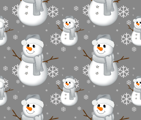 Snowman Frosty fabric by floramoon on Spoonflower - custom fabric