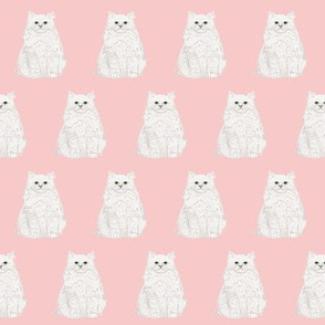 white cat fabric cute design pink fabric white cats cat lady fabric pink and white fabric