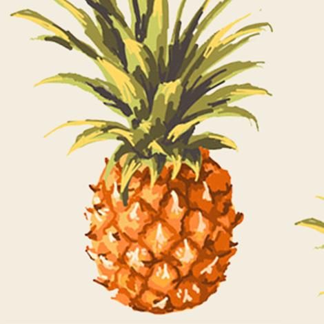 Vintage Pineapple fabric by jamiemgodfrey on Spoonflower - custom fabric