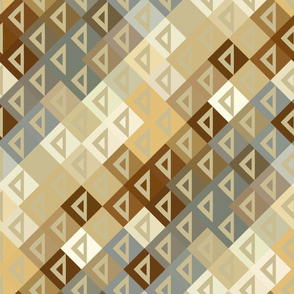 Modern Triangles in taupe and toast
