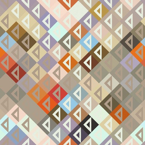 Modern Triangle Color Collage