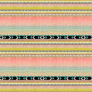 Doll Southwest Aztec faux linen