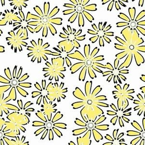 Cream and Sugar Daisies in yellow