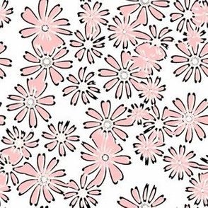 Cream and Sugar Daisies in pink