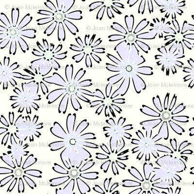 Cream and Sugar Daisies in lavender