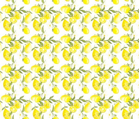 Lemonade Party fabric by louandmoss on Spoonflower - custom fabric