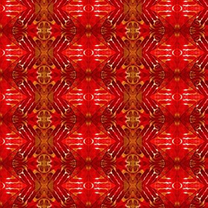 Red Batik Kimono Cloth