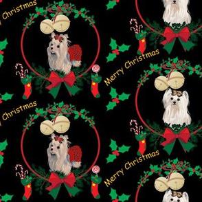 Yorkie - Leopard Christmas -Merry Christmas