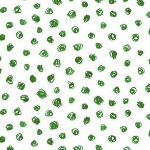 evergreen crayon polkadots