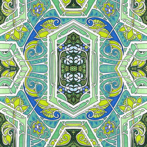 Weed Patch Geometry fabric by edsel2084 on Spoonflower - custom fabric