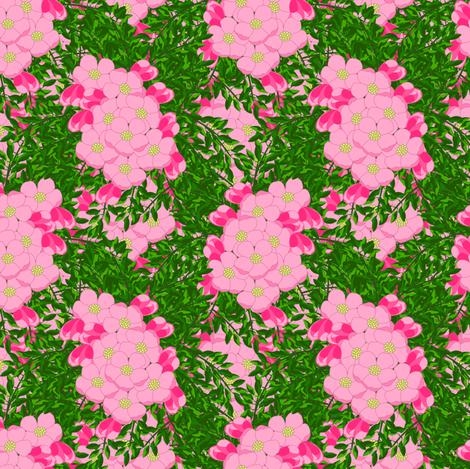Apple blossom bouquet  fabric by anino on Spoonflower - custom fabric