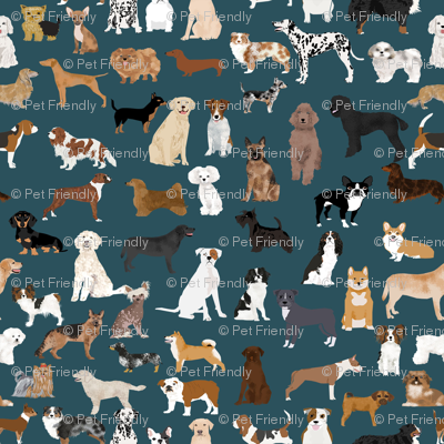 dogs dark navy blue dog fabric lots of breeds cute dogs best dog fabric best dogs cute dog breed design dog owners will love this cute dog fabric