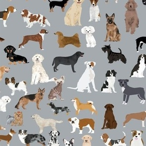 dogs grey fabric cute dog design best dogs grey fabric dogs dog breed fabric dog print dog pattern best dog design