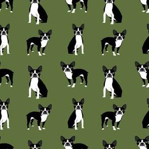 boston terriers cute green fabric best boston terrier design best boston terrier fabrics cute dog design best dogs fabric