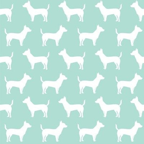 chihuahua dog silhouette fabric mint cute dog design best chihuahuas dog fabric cute chihuahuas dog fabric