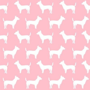 chihuahua pink silhouette dog fabric cute dog design best pink dogs fabric chihuahuas cute design