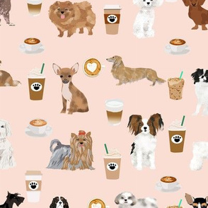 coffee dogs dog fabric cute coffee blush tan coffee fabrics best latte design cute dogs fabric best coffee