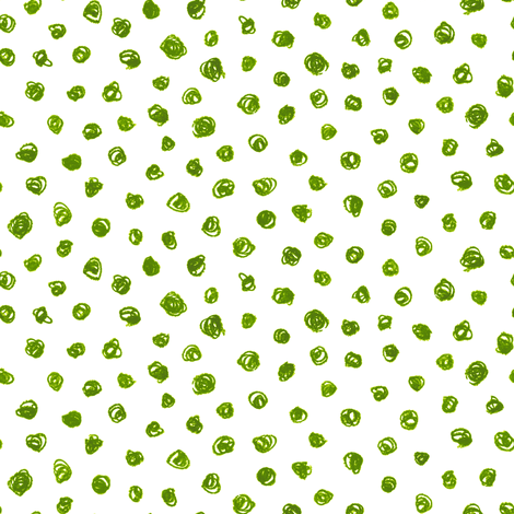 crayon polkadots in leaf green fabric by weavingmajor on Spoonflower - custom fabric
