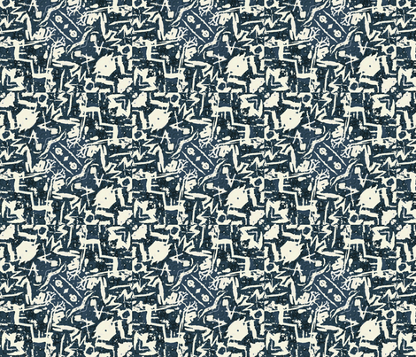 Graffiti Parisienne fabric by lfntextiles on Spoonflower - custom fabric
