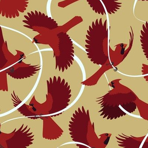 Cardinals on Beige