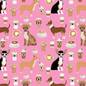 chihuahua dogs pink cute chihuahua dog fabric latte coffees best coffee fabric for chihuahua owners cute chihuahua dogs