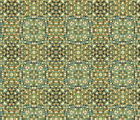 Conservatory with melons fabric by lfntextiles on Spoonflower - custom fabric