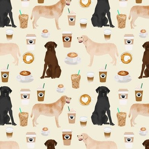 labrador coffee fabric off-white cream color cute coffee fabrics labrador retriever coffees