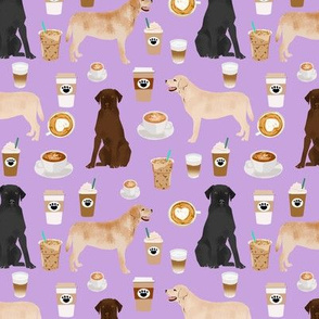 labradors and coffee fabric cute lab dogs fabric labradors purple coffee fabric