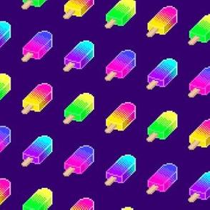 Pixel Popsicles - Purple
