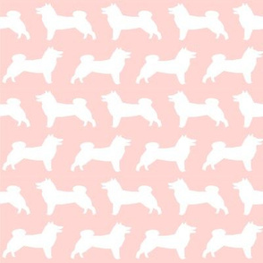 shiba inu dogs pink silhouette dogs fabric dog design print cute dog fabric