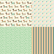 Wiener Dogs on Parade Fat Quarter