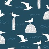 Beach Gulls Navy