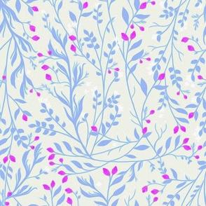 Tangled Periwinkle Vine Magenta Blossom C101