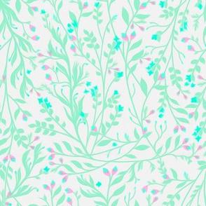 Tangled Mint Aqua Purple
