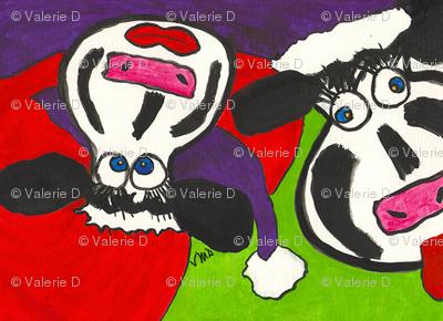 Christmas Crazy Cows