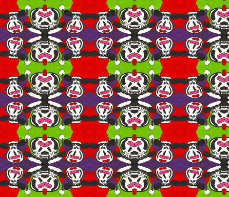 Christmas Crazy Cows fabric by valerie_dortona on Spoonflower - custom fabric