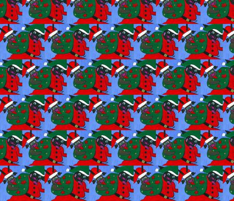 Cow Christmas fabric by valerie_dortona on Spoonflower - custom fabric