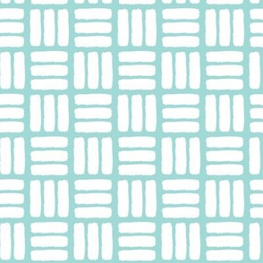 modern basket weave || sea blue
