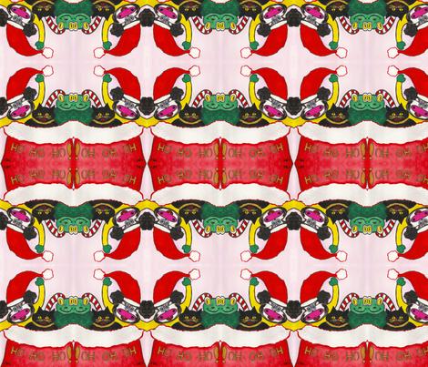 Ho Ho Ho! fabric by valerie_dortona on Spoonflower - custom fabric