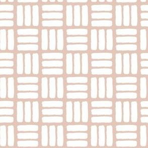 modern basket weave ||  dusty rose