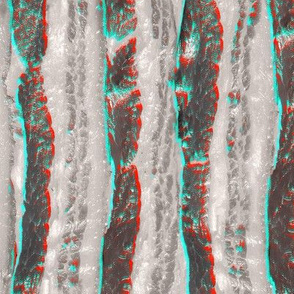Retro 3D Bacon Slab Anaglyph