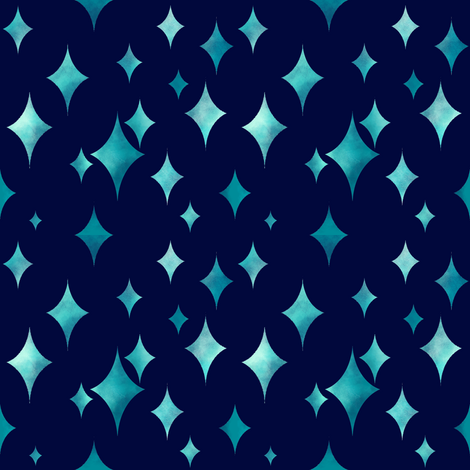 Turquoise Glimmer  fabric by sugarpinedesign on Spoonflower - custom fabric