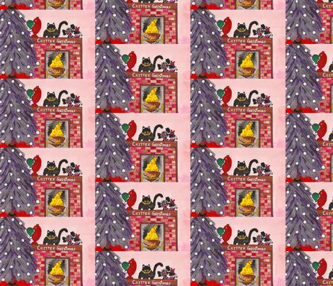 Critter Christmas fabric by valerie_dortona on Spoonflower - custom fabric