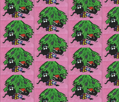 Merry Mices fabric by valerie_dortona on Spoonflower - custom fabric
