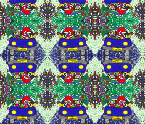 Moo-y Xmas fabric by valerie_dortona on Spoonflower - custom fabric
